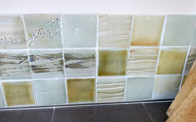 Kitchen tiles inspired by hebridean seaweed
